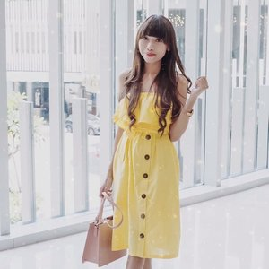 Sooner or later — you are gonna realize who are worth keeping and whom you should let go of 🌻 - Yellow pretty dress from @laclaralabel ! You need to check their IG page now, to get affordable pretty cloth and special discount too ♥️ . . . #clozetteid  #stylediary #oufitpost #stylegoals #whowhatwear #IGoutfit #revolveme #outfitidea #stylecollective #outfitoftheday #kissmylook #outfitselfie #lookdelgiorno #outfitinspiration #lookoftheday #fashiondiariesmoda  #bloggersurabaya  #bloggerjakarta  #influencer  #influencersurabaya