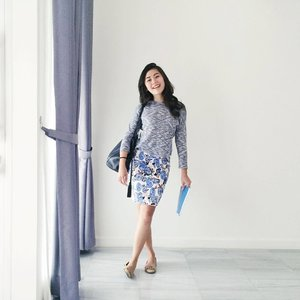 Yesterday I dressed to match our curtains.  #clozetteid #workwear #throwback #ootd