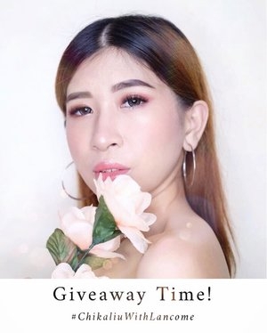 [[GIVEAWAY TIME]] Do you know my favorite skincare products? Yess.. one of them is a product from @lancomeofficial , because in addition to their excellent skincare it turns out that other products such as makeup are so beautiful 🌷✨ . So this time, Me and #lancomeid will collab to hold a special giveaway with a total prize of 3 million for 2 lucky winner!! . How to join?  1. Follow Me and like this pict! 2. Comment di postingan ini, kenapa kamu ingin menangin giveaway #ChikaliuWithLancome and just be creative! 3. Mention 5 of your friends dan ajak mereka untuk ikutan special giveaway ini dengan gunakan hashtag #ChikaliuWithLancome 4. Giveaway akan di tutup dalam akhir bulan Agustus ini  5. And I will announce the winner on 1 - 2 September  Good Luck Babe! 💕 . . . #giveawayid #giveawayindo #giveawayindonesia  #lancomeid #skincare #skincareroutine #makeup  #beautybloggerindo #bdgbeautyblogger #beautybloggerindonesia #bandungbeautyblogger #fujifilmxa20 #ceritacantik #tribepost  #ggrep #clozetter #clozetteID #bloggermafia #influencer #tampilcantik  #influencerstyle #charisceleb #indobeautygram