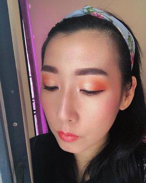 #orangemakeup #makeuplook #beginnermakeup #makeupbeginner #bunnyneedsmakeup #beautyentusiast #makeuplook #clozetteid @clozetteid