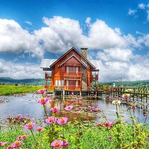#BestofIndonesia I traveled in order to come home 🏡😊 Home is where the heart is.🏡 Cute home, beautiful home 😍😍 #home #house #beautiful #wood #Manado #minahasa #Indonesia #wonderfulIndonesia #pesonaIndonesia #tondano #lake #skyporn #grass #flower #travel #traveller #designinterior #architecture #cloud #traveling #instagood #photography #photooftheday #nature #naturelovers #clozetteid #clozetteambassador