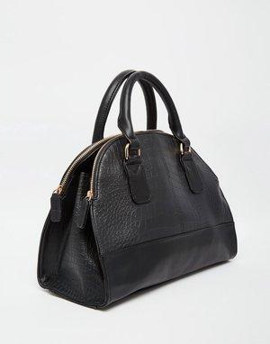 Klasik  Yups! Anyway suka banget dengan this black tote croc bag from ASOS . c8bddb8efb