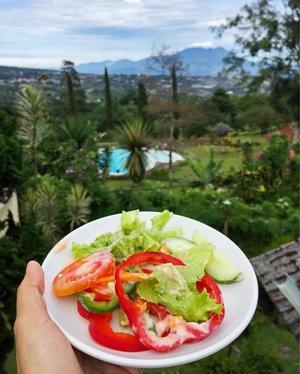 Aku kan niatnya promote healthy lifestyle yah. Etapi kenapa lebih banyak yg nanya di DM dan dunia nyata perkara relationship?  Apakah ini tanda bahwa ku harus ngomongin tema ini di konten-konten berikutnya? Well, romansa yang sehat juga berdampak ke kesehatan mental ya. Hmmm... sepertinya bisa dicoba 🤔  #clozetteid #healthylifestyle #salad #bogor #explorebogor #raw #vegan #vegetarian #indonesiamakansayur #holiday #vacation