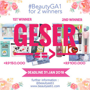 [🎁GIVEAWAY🎁] Btw yang udah ikutan #BeautyGA1 dan sudah memenuhi syarat nya pasti sudah aku LIKE♥️. Kalau belum di like berarti masih belum memenuhi persyaratan. Coba di geser dulu foto nya ya dan lihat cara nya :..1. Follow Instagram @beautyasti1 , blog beautyasti1.com (Caranya : Klik Follow My Blog - GFC) , dan Google+ aku (Caranya klik Google+ Followers ==> Klik add to Cirlces) 2. Regram poster giveaway ini di Instagram kamu, dengan multiple foto kedua adalah hasil capture salah satu postingan di beautyasti1.com yang kamu suka (Kamu pilih ya salah satu postingan di blog aku yang kamu suka, terus kamu capture)3. Tulis caption kenapa kamu suka dengan postingan tersebut dan cantumkan juga nama Google+ dan nama GFC kamu dengan hashtag #BeautyGA1 4. Tag teman kamu sebanyak banyak nya untuk ikutan #BeautyGA1 (minimal 5 orang)5. Kriteria penilaian berdasarkan caption  terbaik (Juri tambahan : @MsrenC)6. Deadline 30 Januari 2018 dan pengumuman pemenang 3 Februari 2018 di IG Story @beautyasti1 ..Good luck!...#clozetteid #kuis #kuisberhadiah #quiz #gaindo #giveaway #giveawayindo #regramcontest #giveawayindonesia #indogiveaway #kontes #kontesberhadiah #gratis #gratisan #hadiah #FREEONGKIR #jakarta #indonesia #giveawayjakarta #giveawaymakeup #kuisgratis #kuishunter #kuisinstagram #instagramkuis #kuisindonesia #quizhunter #infokuis #infoquiz