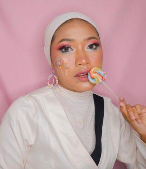 Lollipop Makeup 🍭#candymakeup #lollipopmakeup #clozetteid #motd #motdummu #indobeautygram