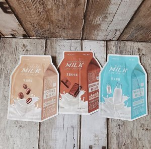 (#blog) | New sheet masks to try out! . 💧1st pic are A'Pieu Milk One-Packs in White Milk, Chocolate Milk, and of course Coffee Milk! Fell in love with the @apieu_cosmetics packaging! 🥛🍫 . 💧2nd pic is @naturerepublic.id Collagen Sheet Mask that was given by hubby's office mate a couple weeks ago 💖 . >> Reviews coming soon on zé blog! . . . . . . #sheetmaskreview #skincarelove #selfcare #clozetteid #skincareblogger #bbloggers #ykskindiary #skinessentials #beautyenthusiast #beautycommunity