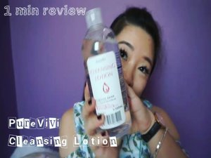 @alovivi_purevivi Cleansing Lotion from @suikabeauty Clean, gentle, non scented, perfect for sensitive skin yet still very much effective.Available in @tokopedia and #shopee  @purevivithailand @purevivisg #purevivi #cleansinglotion #bestcleanser #makeupremover #vlogger #blogger #clozetteID #1minreview #recomended #cleanskin #Japan #Japanbeauty #cleansingwater