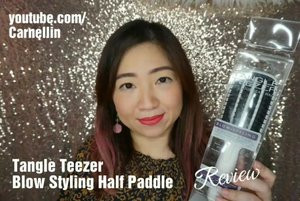 The brutal honest review of @tangleteezer Half Paddle Brush for short or medium hair.  Watch the full review here: https://youtu.be/H13o0kFU8NY  #tangleteezer #brush #worst #worstbrush #notrecommended #honestreview #ClozetteID #beautyvloggerindonesia #vlogger #dontbuythis #hello #youtube #hairstyle #youtuber #review #yikes