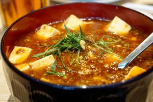 Tetiba hujan, jadi pengen makanan comfort food kaya mapo tofu ini.  Herannya, the best Chinese Food yang pernah kita coba itu dari Jepang 😅... lucu ya, but true.  #comfortfood #rainydays #ClozetteID #yums #foodies #love #foodgasm #foodoftheday #foodies ##fooddiary #hello #Osaka #Japan #mapotofu #chinesefood