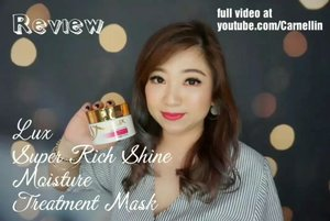@lux_jp_official Super Rich Shine Moisture Treatment Mask review.  Smells divine, works like a charm.  Full video at  https://youtu.be/pPQJCD_8sC8  #lux #haircare #haircream ##hairshine #glasshair #beauty #clozetteID #vlog #review #video #beautyvlogger #beautyvloggerindonesia #hairmask #vloggerindonesia #cosmetic #love #recomended