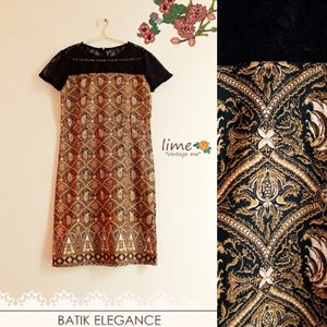 Batik elegance  Brukat combi sandwash  Wear it to office or party♥  Www.limevintageme.com Sms / wa 081286212177  #batikmodern #batikday #batikindonesia #batik #batikdress #localbrand #limevintageme #yellowdress #indielabel #clothing #clozetteid #clothingline #potd #photooftheday #olshopindo #onlineshop #trustedseller #handmadedress #jakarta