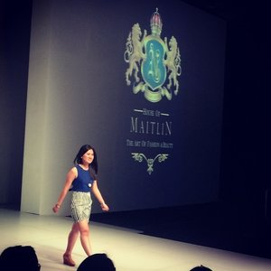 CongratZ dear @michi_maitlin for the new collection of spring summer 2015.. :) cant wait too see u again soon.. So sorry cant wait till you done with backstage things hehhhe.. See ya nexttime Ok!! :) #esmod #bazaarfashionfestival2014 #springsummercollection2015 #fashion #fashionid #fashionporn #fashionworld #clozette #clozetteid #clozettegirl