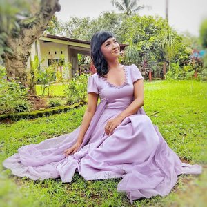 I'm attending a beautiful wedding in a handmade lavender dress of mine 💜💜 . . . . Coming soon on my blog .. tonight!  many stories behind the scene 💜  #clozetteid #lifestyle #fashion #bridesmaid #pinterest