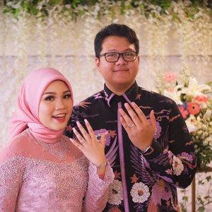 4-11-2018.Alhamdulillah, one step closer, bismillah :)Hello my dear fiancée @baimabd92 😉.#engagement #engagementring #lamaran #clozetteid #PutriBaimMenujuHalal