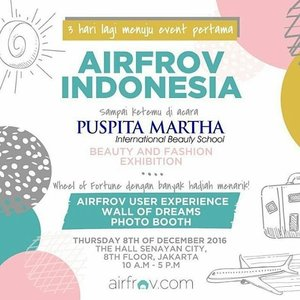 For Beauty lovers, make sure to come 😇 #airfrov #airfrovid #clozetteid #puspitamartha #beautyevent