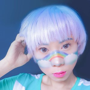 See you at Gandaria City 🌈 di event @airfrov_id x @histravelindonesia 💙 Aku bakal sharing ttg pengalaman traveling ke Jepang 🗾✈ nanti gak bakal dateng pake makeup begini kok haha😅 . . Eyebrows @muacosmetics 🌈Rainbow @nyxcosmetics_indonesia @juviasplace @muacosmetics ☁Clouds @viva.cosmetics 💋Lips @lancomeofficial Mascara @maybelline Softlens @x2softlens . . #radenayublog #eventjakarta #makeuplook #beautybloggerindonesia #makeupideas #makeupindo #makeupinspo #makeupblogger #instamakeup #cloudmakeup #rainbowmakeup #hudabeauty #inspirasicantikmu #facepaint #animemakeup #kawaiimakeup #igmakeup #igbeauty #instabeauty #clozetteid #nyxcosmeticsid #muajakarta #nyxindonesia #vivacosmetics #juviasplacesaharanpalette