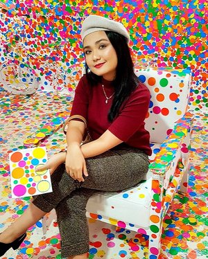 Life is like a rainbow..we need both Rain and Sun to make it colors appear 💛💚💛. . . . 📷 by @eka_vaganza 💕 . . @museummacan  #clozetteid #yayoikusama #yayoikusamaexhibition #dotsoverload #museummacan #ayokemuseum