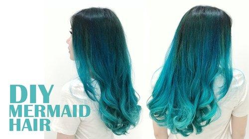 "<div class=""photoCaption"">DIY Blue & Turquoise Mermaid Hair - Cat Rambut Sendiri Dirumah (Bahasa Indonesia) - YouTube</div>"
