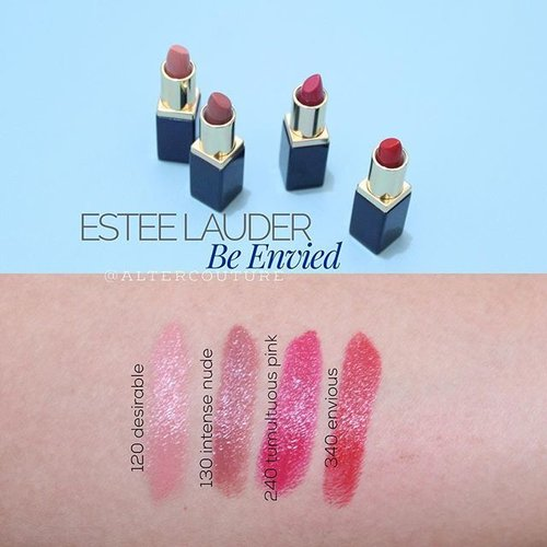 """<div class=""""photoCaption"""">Estée Lauder 'Be Envied' Pure Colour Envy Sculpting Lipstick Collection<br /> .<br /> Holiday set of 2015 contains 4 deluxe size of Color Envy Sculpting lipstick. The set has nude, pink and red lipstick with creamy/ a bit glossy finish. It has 3 similar color from last year set (desirable, tumultuous pink, envious). . <br /> Pros:<br /> - Pigmented<br /> - Hydrating<br /> .<br /> Cons:<br /> - The color bleed, lip liner is needed!<br /> - The color doesn't last long. .<br /> .<br /> .<br />  <a class=""""pink-url"""" target=""""_blank"""" href=""""http://m.clozette.co.id/search/query?term=makeup&siteseach=Submit"""">#makeup</a>  <a class=""""pink-url"""" target=""""_blank"""" href=""""http://m.clozette.co.id/search/query?term=maquiagem&siteseach=Submit"""">#maquiagem</a>  <a class=""""pink-url"""" target=""""_blank"""" href=""""http://m.clozette.co.id/search/query?term=maquiallage&siteseach=Submit"""">#maquiallage</a>  <a class=""""pink-url"""" target=""""_blank"""" href=""""http://m.clozette.co.id/search/query?term=universodamaquiagem&siteseach=Submit"""">#universodamaquiagem</a>  <a class=""""pink-url"""" target=""""_blank"""" href=""""http://m.clozette.co.id/search/query?term=hudabeauty&siteseach=Submit"""">#hudabeauty</a>  <a class=""""pink-url"""" target=""""_blank"""" href=""""http://m.clozette.co.id/search/query?term=esteelauder&siteseach=Submit"""">#esteelauder</a>  <a class=""""pink-url"""" target=""""_blank"""" href=""""http://m.clozette.co.id/search/query?term=lipstick&siteseach=Submit"""">#lipstick</a>  <a class=""""pink-url"""" target=""""_blank"""" href=""""http://m.clozette.co.id/search/query?term=redlips&siteseach=Submit"""">#redlips</a>  <a class=""""pink-url"""" target=""""_blank"""" href=""""http://m.clozette.co.id/search/query?term=redlipstick&siteseach=Submit"""">#redlipstick</a>  <a class=""""pink-url"""" target=""""_blank"""" href=""""http://m.clozette.co.id/search/query?term=fdbeauty&siteseach=Submit"""">#fdbeauty</a>  <a class=""""pink-url"""" target=""""_blank"""" href=""""http://m.clozette.co.id/search/query?term=clozetteid&siteseach=Submit"""">#clozetteid</a>  <a class=""""pink-url"""" target=""""_blank"""" href=""""http:"""