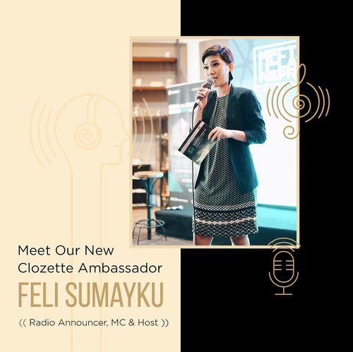 "<div class=""photoCaption"">Say hello to our new Clozette Ambassador, Feli Sumayku!Di kesehariannya, Feli merupakan seorang radio announcer, host serta MC di beragam event. Ada yang udah pernah ketemu langsung sama Feli di event? Atau mungkin sering dengerin Feli siaran?Follow her on Clozette Website & Instagram @nonafeli to see more updates. <a class=""pink-url"" target=""_blank"" href=""http://m.clozette.co.id/search/query?term=ClozetteID&siteseach=Submit"">#ClozetteID</a></div>"