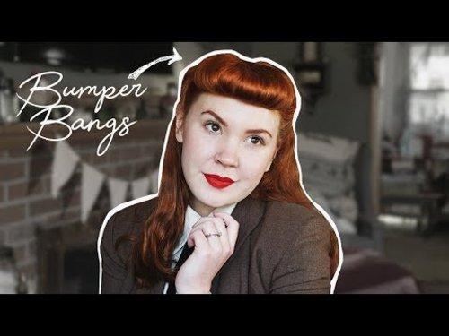 "<div class=""photoCaption"">Bumper Bangs Tutorial!    Vintage Hair - YouTube</div>"