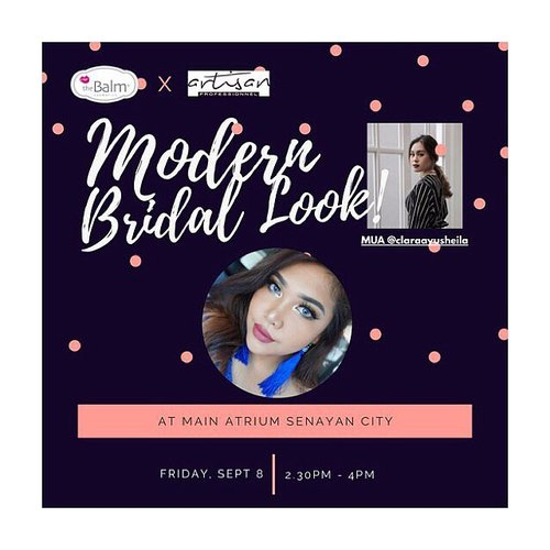 """<div class=""""photoCaption"""">💄GIVEAWAY ALERT💄<br /> .<br /> Hey Gorgeous!<br /> .<br /> Don't missed @thebalmid & @artisanpro Beauty Demo """"Modern Bridal Look"""" at Main Atrium @senayancity Sept 8th, 2017 with @claraayusheila 💋<br /> .<br /> For you Makeup Artist wanna be or makeup enthusiast, simply put your comment in this post with """"I should attend this event because..."""" with  <a class=""""pink-url"""" target=""""_blank"""" href=""""http://m.clozette.co.id/search/query?term=youxthebalm&siteseach=Submit"""">#youxthebalm</a> &   <a class=""""pink-url"""" target=""""_blank"""" href=""""http://m.clozette.co.id/search/query?term=thebalmid&siteseach=Submit"""">#thebalmid</a> hashtag and tag 3 of your friends.<br /> .<br /> I will only pick 3 lucky winners to attend this event with me! The winner will be announced on Sept 6th, 2017 and you will get goodies from The Balm!<br /> .<br /> So, what are you waiting for? Come and join me❤<br /> .<br /> .<br />  <a class=""""pink-url"""" target=""""_blank"""" href=""""http://m.clozette.co.id/search/query?term=makeupwithselly&siteseach=Submit"""">#makeupwithselly</a>  <a class=""""pink-url"""" target=""""_blank"""" href=""""http://m.clozette.co.id/search/query?term=thebalmid&siteseach=Submit"""">#thebalmid</a>  <a class=""""pink-url"""" target=""""_blank"""" href=""""http://m.clozette.co.id/search/query?term=youxthebalm&siteseach=Submit"""">#youxthebalm</a>  <a class=""""pink-url"""" target=""""_blank"""" href=""""http://m.clozette.co.id/search/query?term=giveawayindonesia&siteseach=Submit"""">#giveawayindonesia</a>  <a class=""""pink-url"""" target=""""_blank"""" href=""""http://m.clozette.co.id/search/query?term=bloggermafia&siteseach=Submit"""">#bloggermafia</a>  <a class=""""pink-url"""" target=""""_blank"""" href=""""http://m.clozette.co.id/search/query?term=clozetteid&siteseach=Submit"""">#clozetteid</a></div>"""