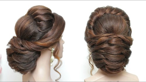 "<div class=""photoCaption"">Latest Hairstyle For Long Hair. New Bridal Updo Tutorial - YouTube</div>"