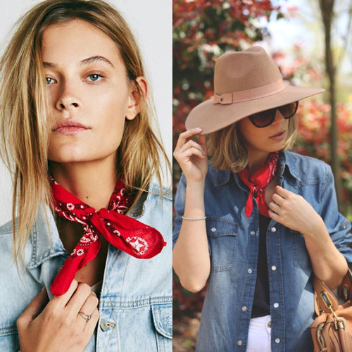 "<div class=""photoCaption"">The cowboy trend is here! <br /> Wear your red bandana on your neck instead of head to add up a city chic touch 👌🏻</div>"