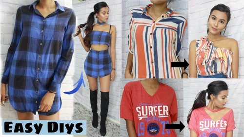 "<div class=""photoCaption"">DIY Clothes From Old T-Shirts - YouTube</div>"