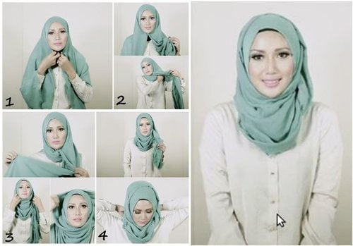 "<div class=""photoCaption"">Simple Everyday Hijab Tutorial – Step By Step</div>"