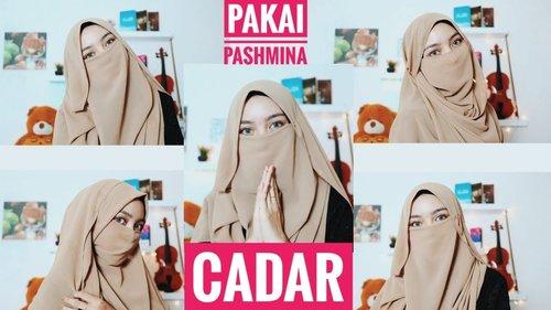 """<div class=""""photoCaption"""">Tutorial Cadar Menggunakan Pashmina - YouTube</div>"""