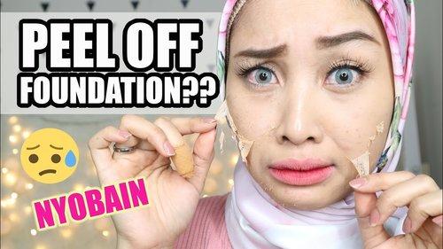 "<div class=""photoCaption"">PEEL OFF FOUNDATION ?? SERIUSAN?? | ACNE MAKEUP SHIELD | IRNA DEWI - YouTube</div>"