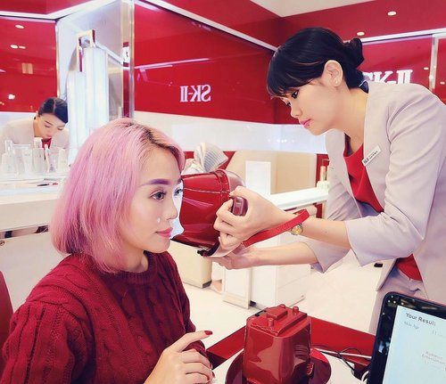 """<div class=""""photoCaption"""">I just got the SKII Magic Ring Skin check Experience at PIM2. At first I was a lil bit nervous to know the result, but got more confident as I remember that I've been using SKII for more than 1 year now, and yeay for the result because the face scan told me that my skin age is like an 11yo skin 😍😍😍✨✨<br /> I'll definitely continue to use my SKII products in the future to maintain and better my skin, thanks @skii 😍💖✨<br />  <a class=""""pink-url"""" target=""""_blank"""" href=""""http://m.clozette.co.id/search/query?term=SKII&siteseach=Submit"""">#SKII</a>  <a class=""""pink-url"""" target=""""_blank"""" href=""""http://m.clozette.co.id/search/query?term=ChangeDestiny&siteseach=Submit"""">#ChangeDestiny</a>  <a class=""""pink-url"""" target=""""_blank"""" href=""""http://m.clozette.co.id/search/query?term=ClozetteID&siteseach=Submit"""">#ClozetteID</a>  <a class=""""pink-url"""" target=""""_blank"""" href=""""http://m.clozette.co.id/search/query?term=ClozetteAmbassador&siteseach=Submit"""">#ClozetteAmbassador</a></div>"""