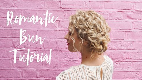 "<div class=""photoCaption"">Quick romantic hairstyle tutorial for curly hair - YouTube</div>"
