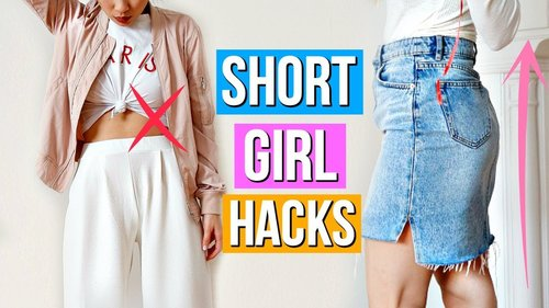 """<div class=""""photoCaption"""">8 Clothing Hacks EVERY Short Girl Must Know! - YouTube</div>"""