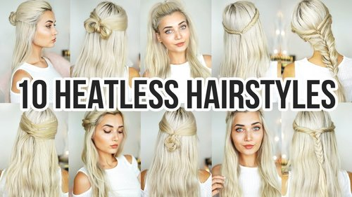 "<div class=""photoCaption"">10 Heatless Back To School Hairstyles - YouTube</div>"