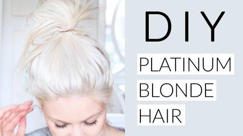 "<div class=""photoCaption"">DIY Icy White Platinum Blonde Hair Tutorial - YouTube</div>"