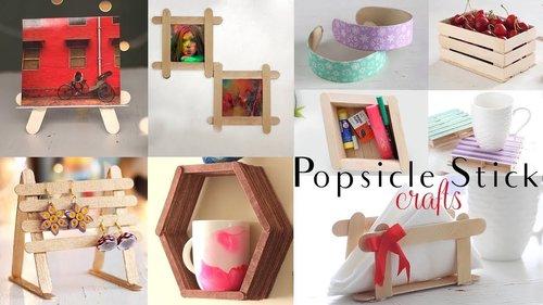 "<div class=""photoCaption"">Top 10 DIY Popsicle Stick Craft Compilation | Craft Ideas | Home Decor - YouTube</div>"